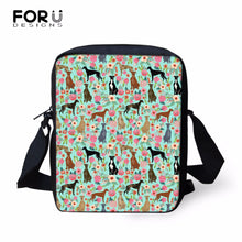 Load image into Gallery viewer, FORUDESIGNS School Crossbody Bags For Girls Greyhounds Rescue Dog Pattern Messenger Bag For Women Flap Female Small Shoulder Bag