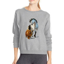 Load image into Gallery viewer, Woman's Horse and Chow Dog Sweatshirt