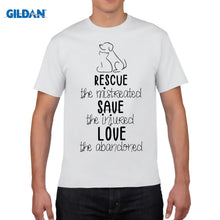 "Load image into Gallery viewer, ""Rescue Save Love"" T Shirt"