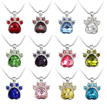 Load image into Gallery viewer, Rhinestone Paw Pendant Style Necklace