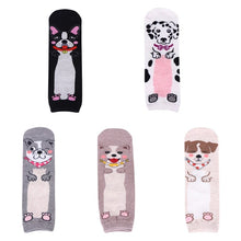 Load image into Gallery viewer, Women's Crew Socks with Five Different Doggie Motif