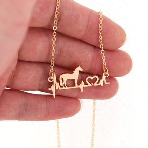 Good Luck Horse Necklace