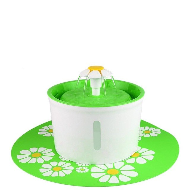 Flower Pet Fountain Circulating Filtered Water