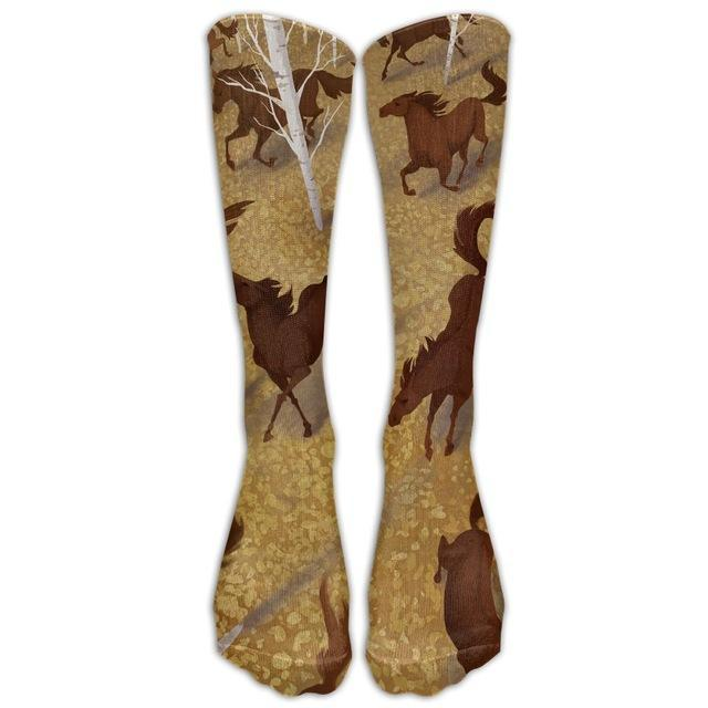 Women's Knee High 3D Horse Print Socks