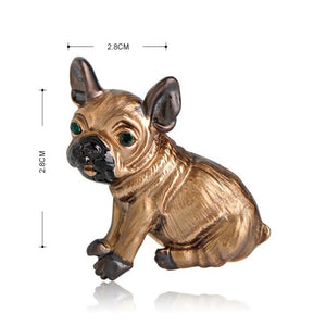 Adorable Pug Dog Brooch