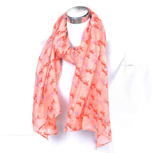 Voile Horse Print Fashion Scarf