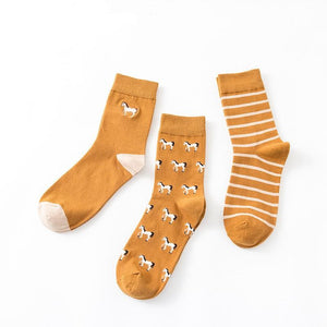 Men's Horse Design Crew Socks