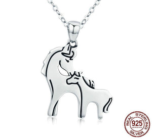 Sterling Silver Mare and Foal Pendant