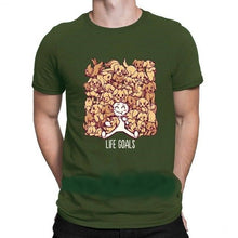 "Load image into Gallery viewer, Men's T Shirt ""Life Goals"""
