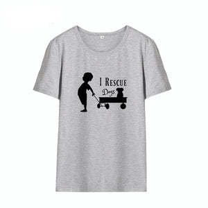 "Women's Tee ""I Rescue Dogs"""