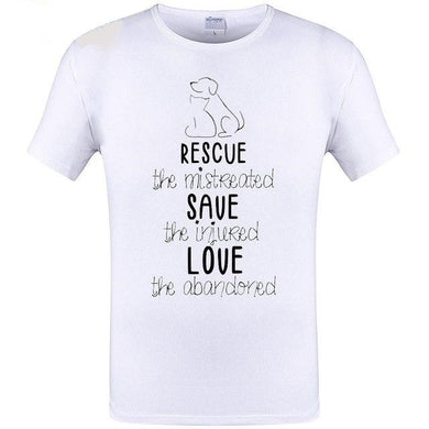 T Shirt Rescue Save Love Hand-painted Dog Design