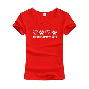Rescue Adopt Love Tee