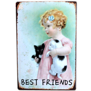 "Vintage Wall Art ""Best Friends"""