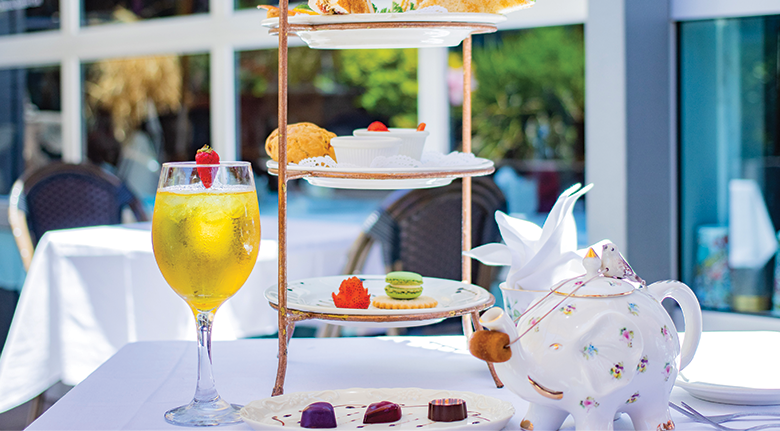 Outdoor Dining Afternoon Tea Service