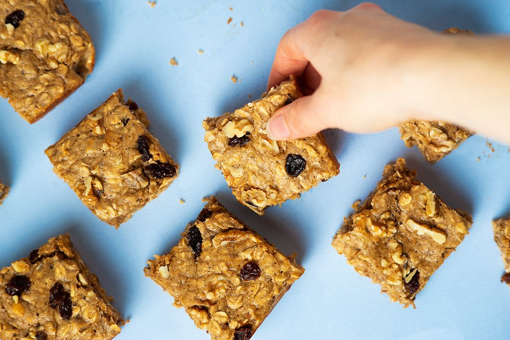Banana Protein Oat Bar Recipe.