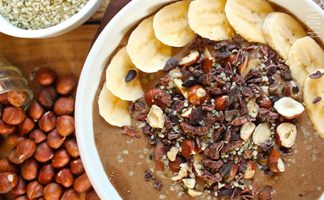 Use our Organic Chocolate Pea Protein in yummy smoothie bowl recipes.