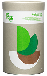 Go Good Organic Vanilla Pea Protein Powder.