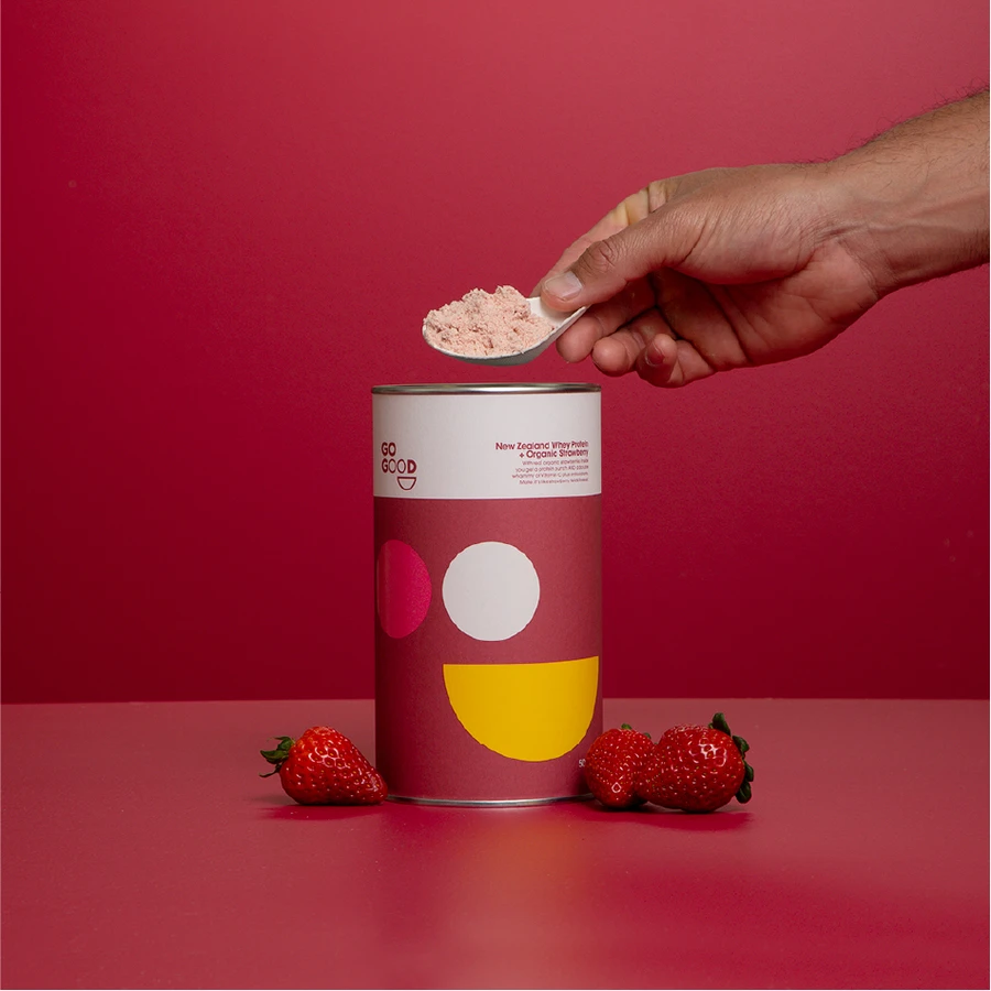 Load image into Gallery viewer, Whey Protein Powder + Organic Strawberry