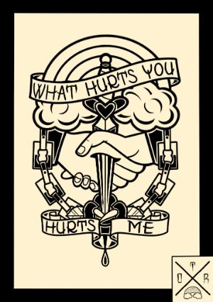 "9x12 ""What Hurts You Hurts Me"" Print - Signed - Unsigned"