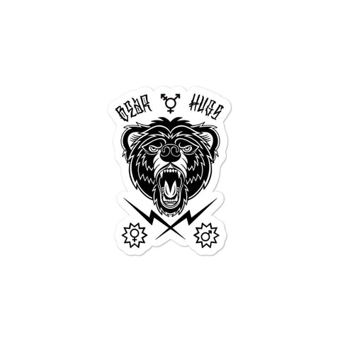 """Bear Hugs"" Kiss Cut Sticker"