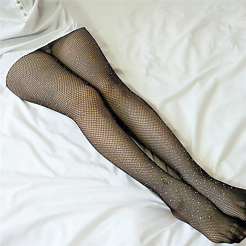 Diamante Rhinestone Fishnets