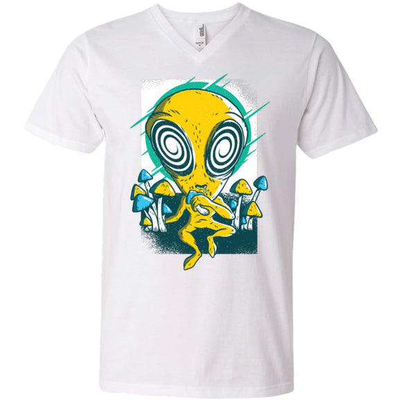 Alien Mushrooms - White / S - T-Shirts | La Mú.ùz