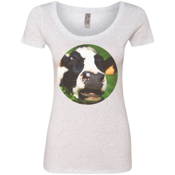 The Bright Side Of The Moo - Heather White / S - T-Shirts | La Mú.ùz