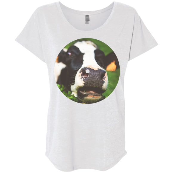 The Bright Side Of The Moo - Heather White / X-Small - T-Shirts | La Mú.ùz