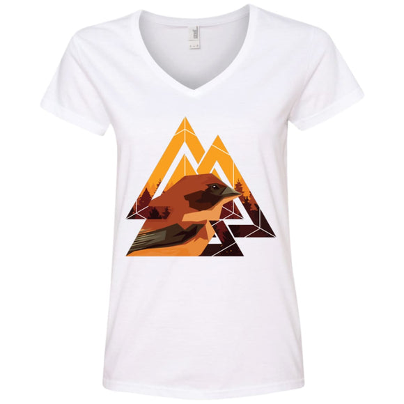 Three Angles & A Bird - White / S - T-Shirts | La Mú.ùz