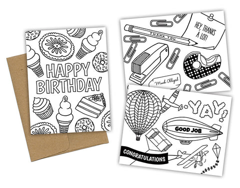 EVERYDAY COLORING CARD SET