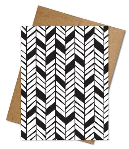 HERRINGBONE COLORING CARD