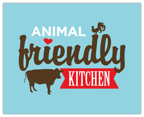ANIMAL FRIENDLY KITCHEN PRINT