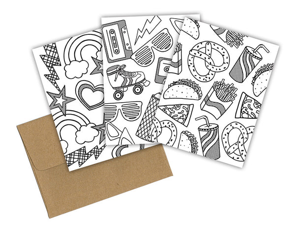 FUN STUFF COLORING CARDS BOXED SET