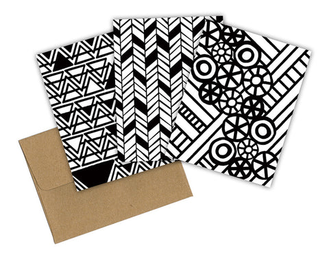 ABSTRACT COLORING CARD SET