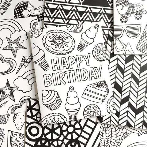 COLORING 10 CARD BUNDLE