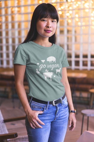 Go Vegan Organic Fitted Tee