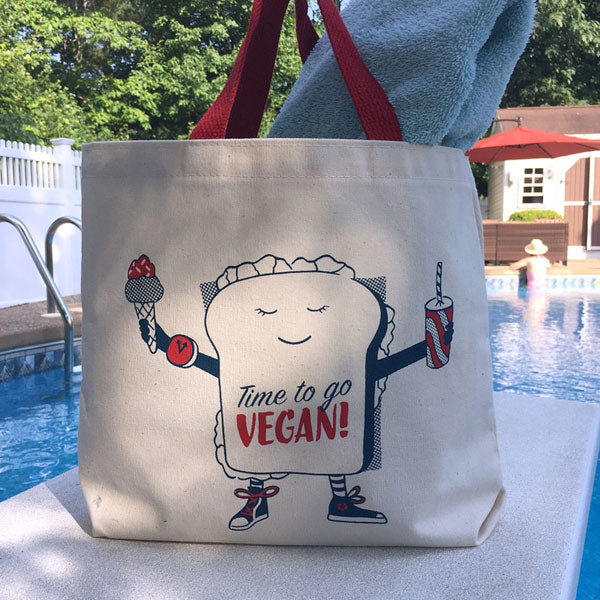 TIME TO GO VEGAN ORGANIC TOTE