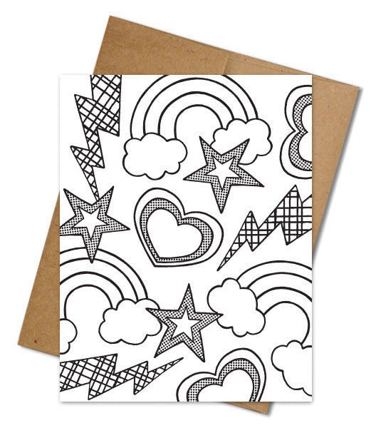 FUNSTORM COLORING CARD