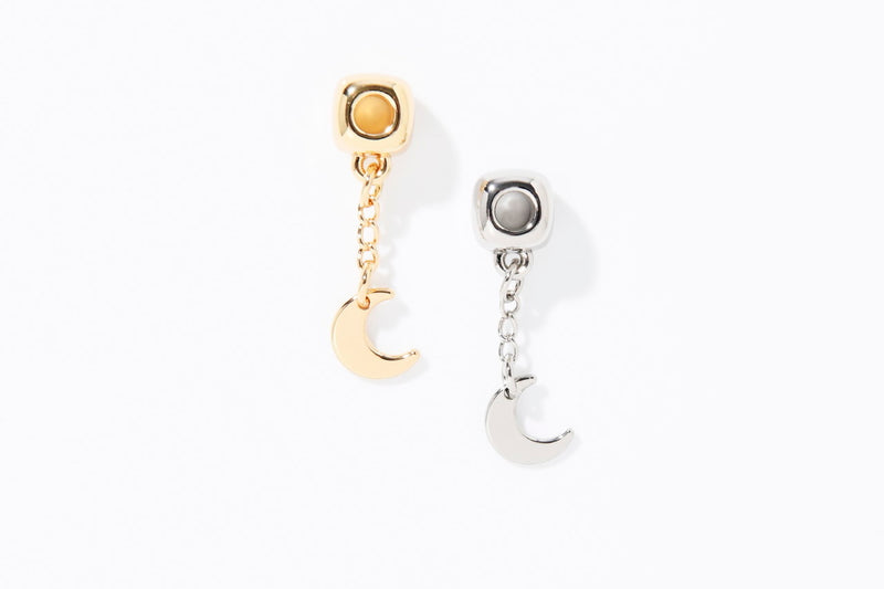 CUBE CHARM CHAIN NATURE MOON