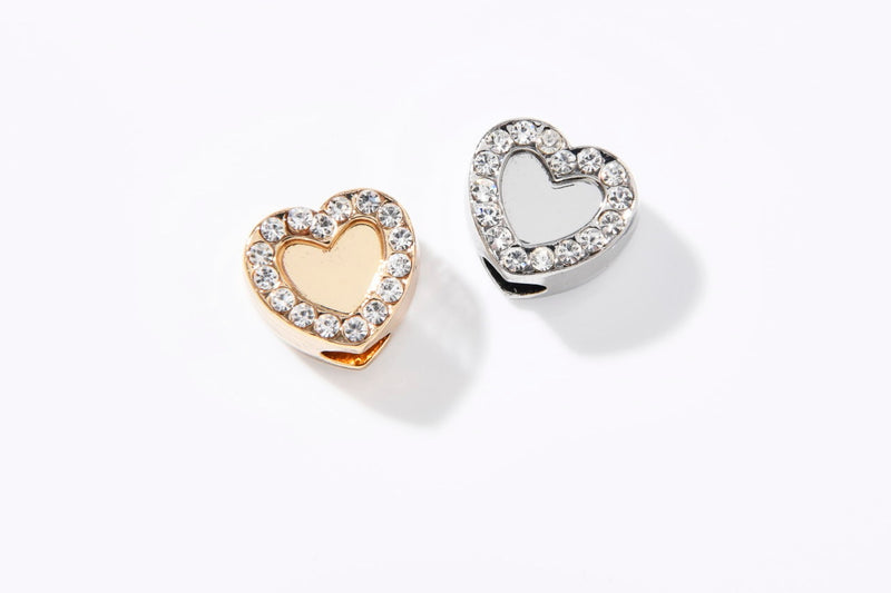 DIAMOND CUBE CHARM HEART
