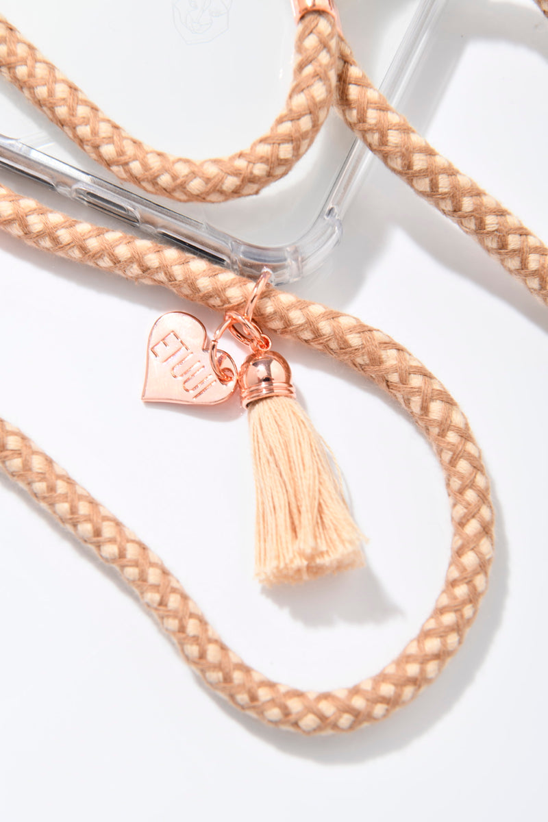 CAPPUCCINO ROSÉ PHONE NECKLACE - Special Edition