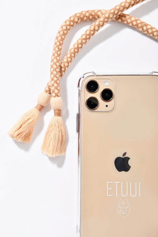 CAPPUCCINO GOLD PHONE NECKLACE