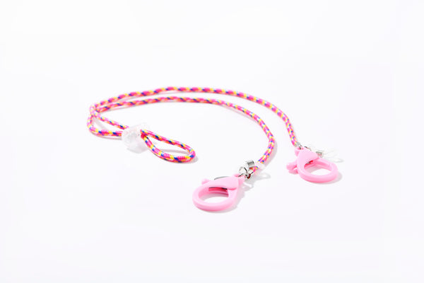 Masken- und Brillenband Nylon Pink Mix, Rosa Lobster