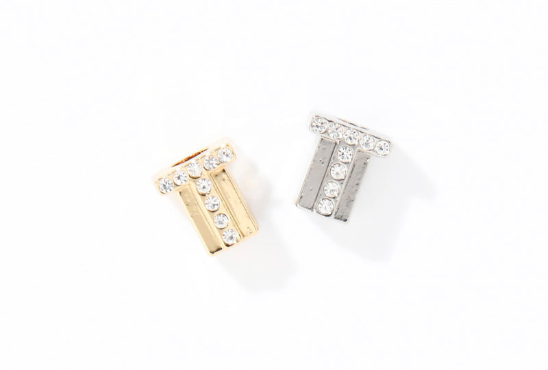 CUBE LETTER CHARMS SILVER (NATURE KOLLEKTION)