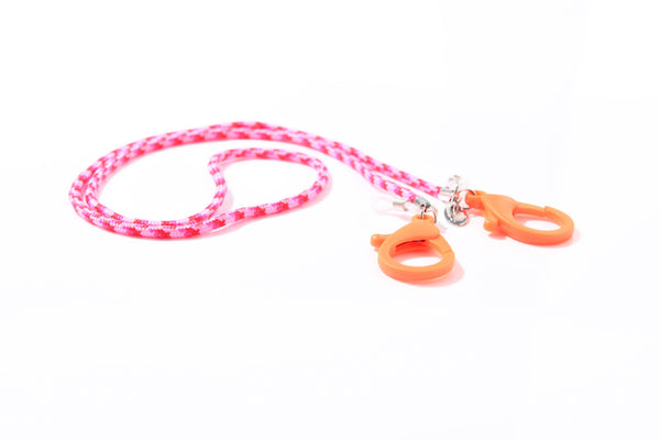 Masken- und Brillenband Nylon Pink, Orange Lobster