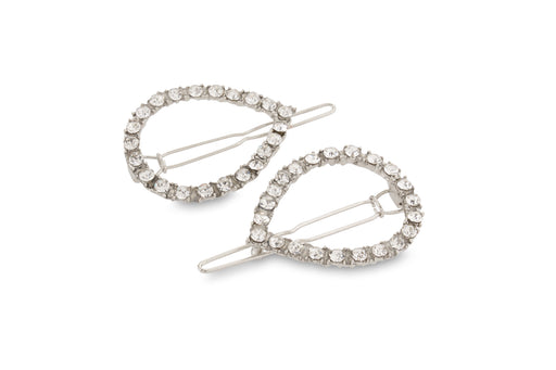 Allure Wire Back Rhinestone Barrettes