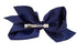 French Toast Large Bow Barrette Silver