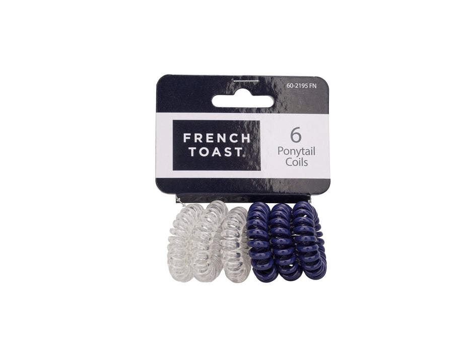 French Toast Small Coil Ponytail, 6 Pack