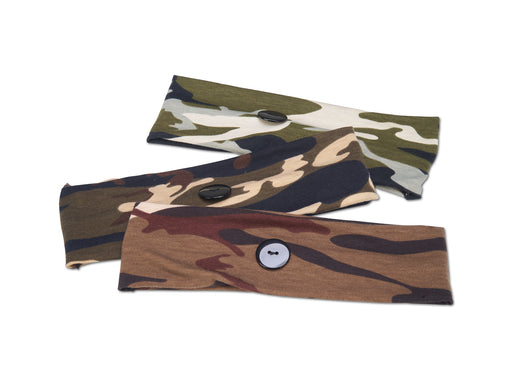 Allure Mask Holder Camo Headband