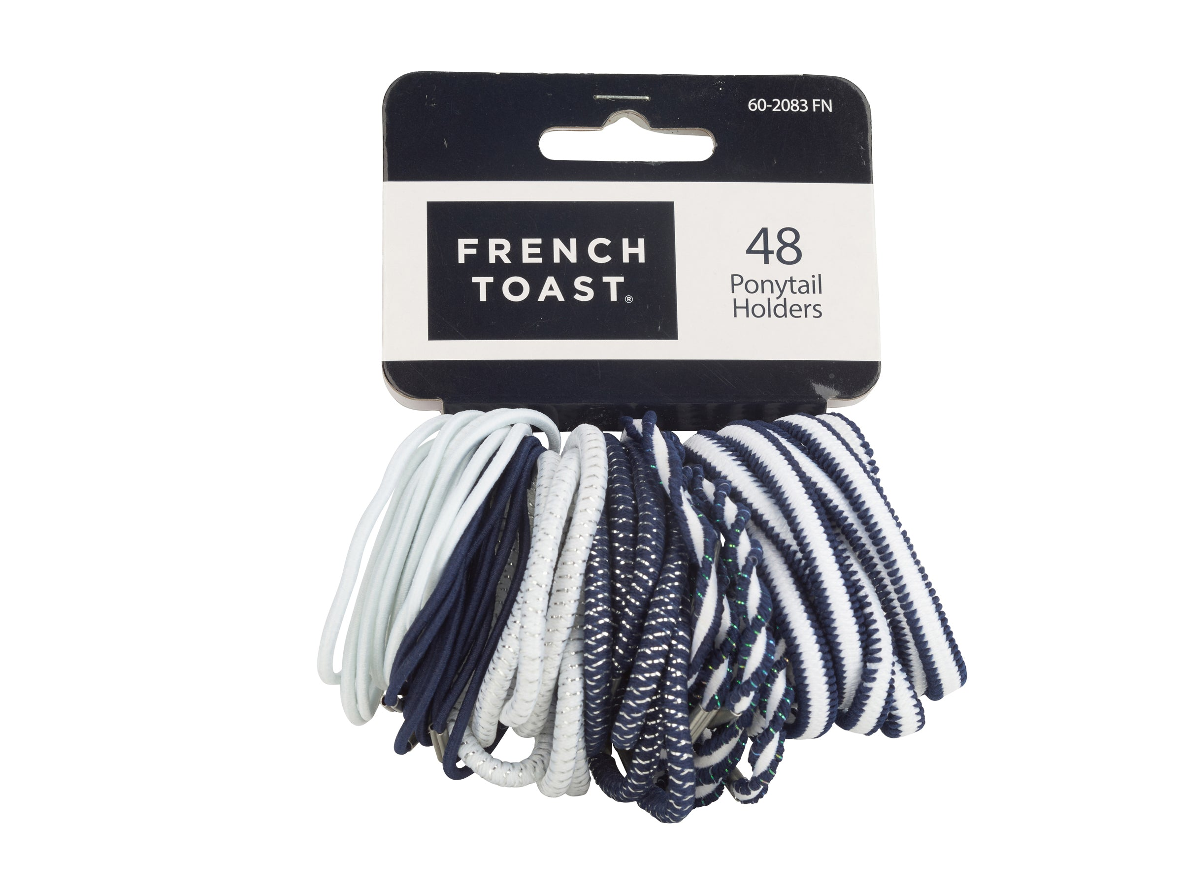 French Toast Ponytail Holders, 48-pack